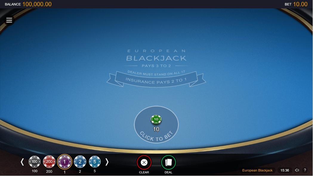 European BlackJack Vorschau