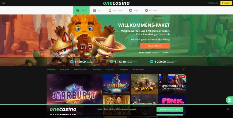 one casino webseite