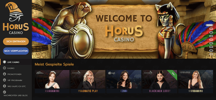 horus casino live