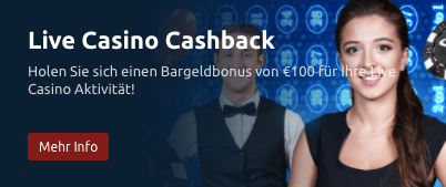 tornadobet live-casino cashback